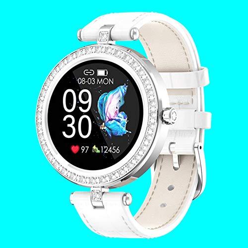 N\C Fashion Sports Ladies Physiological Monitoring 24 Sports Modes Bluetooth GPS Pedometer Information Reminder Heart Rate Blood Pressure Sleep Monitoring Smart Waterproof Bracelet