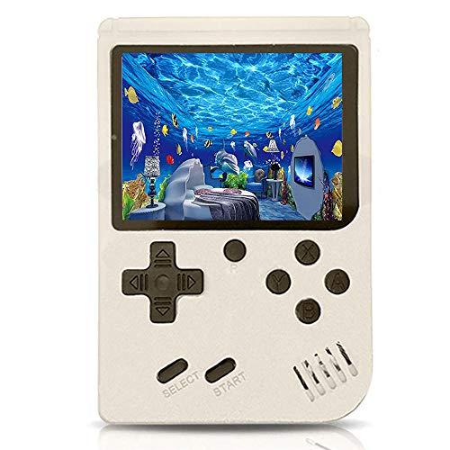 O RLY Portátil Consola de Juegos Retro para niños y Adultos con conexión de TV integrada para Juegos clásicos, batería Recargable de 1020 mAh (500 Games White)
