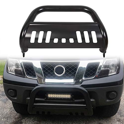 ECOTRIC 3' Bull Bar for 2005-2019 Frontier/ 2005-2007 Pathfinder/ 2005-2015 Xterra | Push Bumper Grille Guard (Black)
