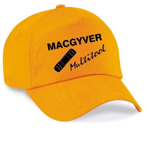 Shirtinstyle Basecap MAC GYVER Multi Tools Cap Capy Größe Unisex, Farbe gelb