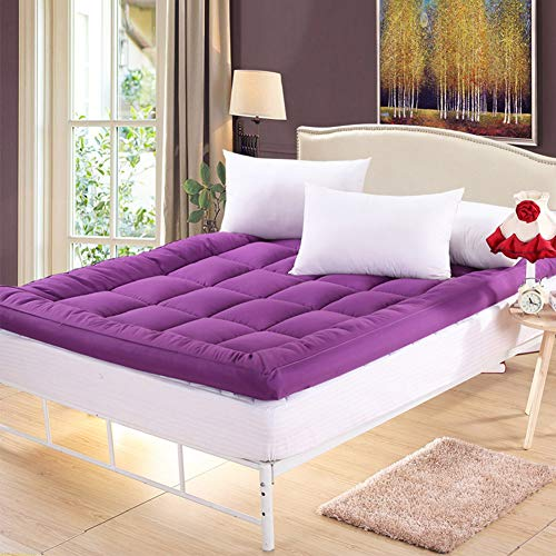 CIHXG Japanse Tatami vloer Futon matras, comfortabele opvouwbare dikker quilting topper enkele tweepersoons studentenslaapzaal gast matras