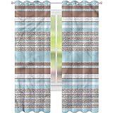 jinguizi Cortina de ventana opaca Aqua horizontales rayas líneas...