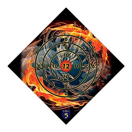 BestSaller 1230 Zielscheibe \'Tribal Feuer Drache\' aus Holz, 42x42cm, bunt