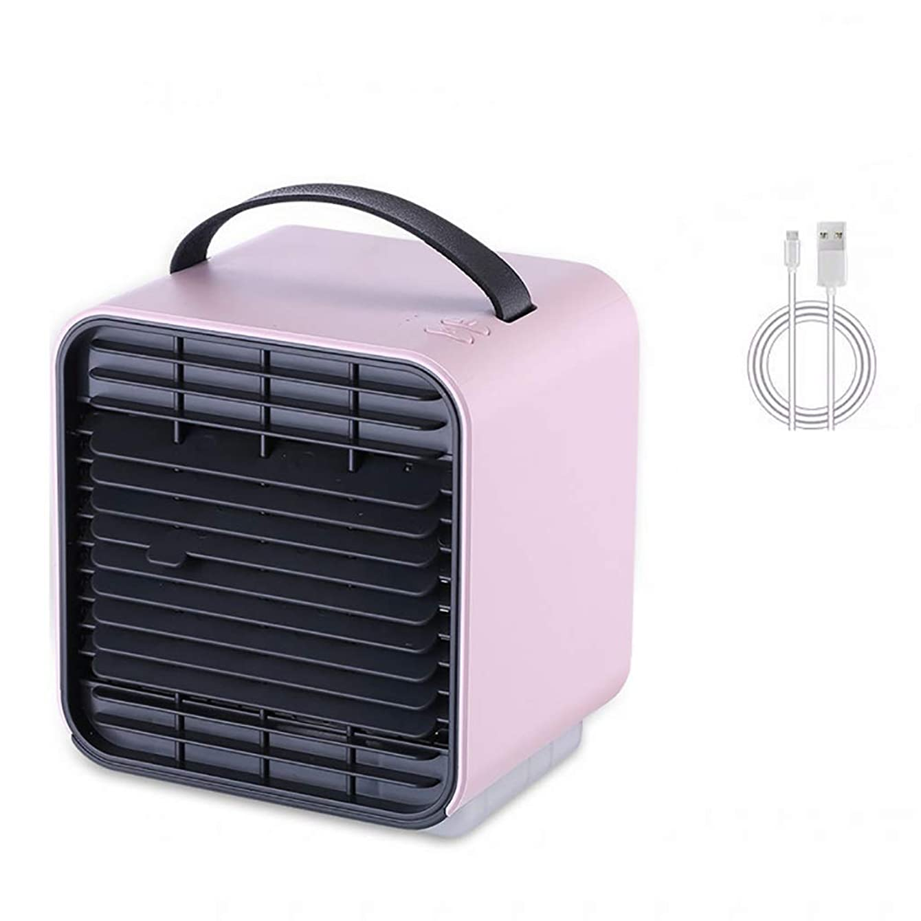 Air Cooler Portable Air Conditioner Cooler Fan with 3 Fan Speeds, Personal Space with Handle, Mini Humidifier, Purifier 3 in 1 Evaporative Cooler with USB Rechargeable, Cooling Desktop Fan with Light