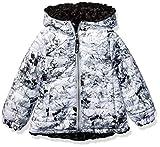 LONDON FOG Girls' Big Midweight Fleece Lined Jacket, Grey Solid, 10/12