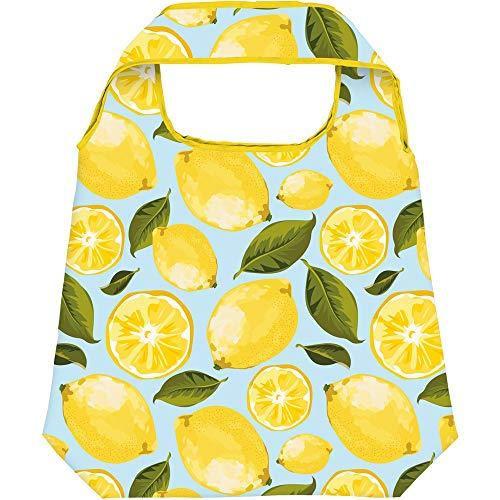 Moses Shopper Lemony | Faltbare Einkaufstasche | umweltfreundlich, wiederverwendbar, Polyester, hellblau, One Size