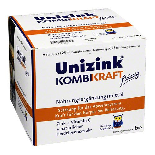 UNIZINK KOMBIKRAFT 25X25ml Flaschen PZN:7146623