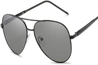 SGJFZD Intelligent Outdoor Seaside Sunproof UV400 Polarized Sunglasses Quality Ladies Polarized Sunglasses Trendy Polarized Sunglasses Large Frame Elegant Sunglasses (Color : Black)