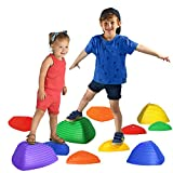 LITTLE CHUBBY ONE Stepping Stones - Kid Friendly Balance Blocks - 11 Piece Set Slip Resistant Durable Plastic Teaches Kids Balance and Coordination