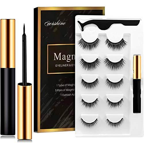 Cils magnétiques, eye-liner magnétique, cils magnétiques artificiels, 5 cils magnétiques avec eye-liner...
