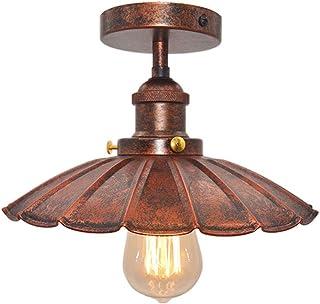 Huahan Haituo Parasol lampa sufitowa półpodtynkowa oprawa oświetleniowa retro przemysł pojedyncza głowica mała czarna spód...