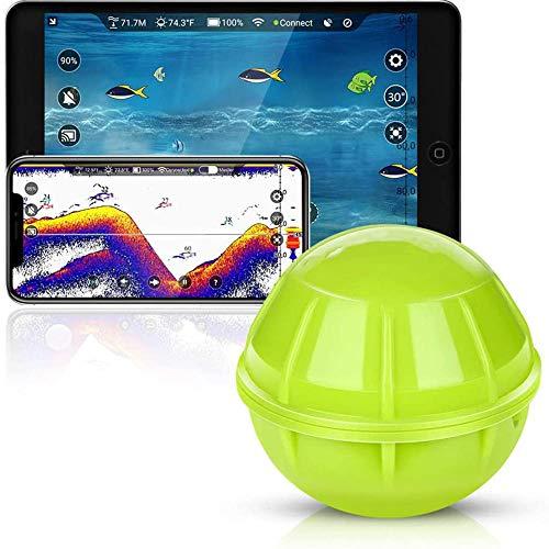 Mdcgok Fischfinder Angeln Fischfinder Smart Bluetooth Fish Finder Tragbarer Kabelloser Sonar Fischfinder Kompatibel mit Handys Für Dock Ufer Boot Eisfischen