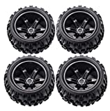 RC Tires Wheels 1/8 Scale Monster Truck Buggy Crawler Tires 4 PCS 17mm Hex...