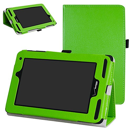 Mama Mouth for Verizon Ellipsis 7 4g LTE Case,Slim Folio 2-Folding Stand Case Cover for 7 Verizon Ellipsis 7 4g LTE Tablet,Green