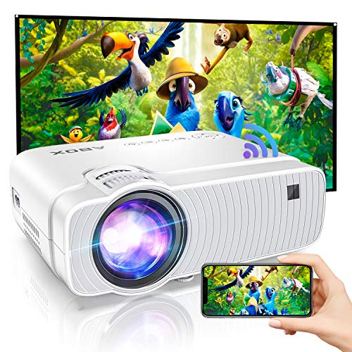 Bomaker HD WiFi Projector, 1080P and 250''Display Support, 120 ANSI Lumen Movie Projector Portable for Home Entertainment, Compatible with iPhone, TV Stick, PS4,DVD Players, Android, Windows. Buy it now for 99.72
