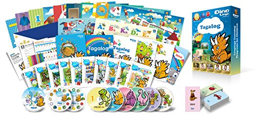 Premium set for kids learning Filipino (Tagalog) / DVD, book, picture book, flash card, song CD, full set of teaching materials such as alphabet exercise book / Mastering the basics of listening, spea
