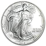 1995 American Silver Eagle .999 Fine Silver Dollar Uncirculated US Mint with Our Certificate of Authenticity