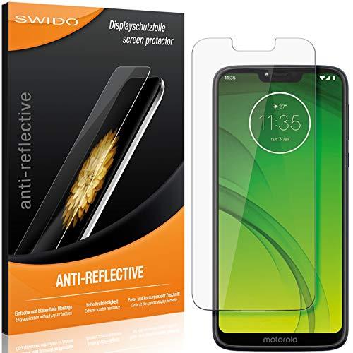 SWIDO Schutzfolie für Motorola G7 Power [2 Stück] Anti-Reflex MATT Entspiegelnd, Hoher Festigkeitgrad, Schutz vor Kratzer/Folie, Bildschirmschutz, Bildschirmschutzfolie, Panzerglas-Folie