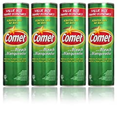 Comet Cleanser with Bleach 25 oz (Pack of 4) Scratch Free Deodorizes and Cleans The surfactants in Comet are biodegradable Contains No Phosphate