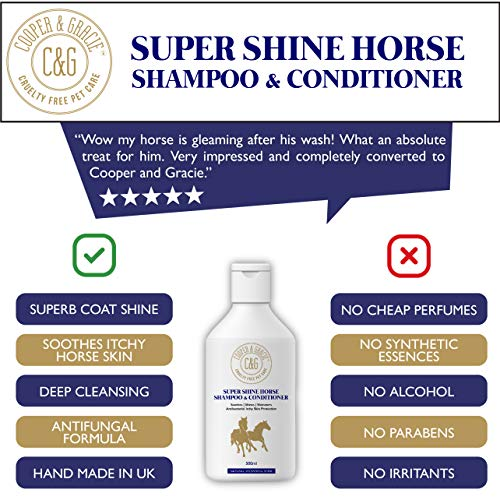 C&G Pets | Super Shine Horse Shampoo and Conditioner | Powerful Organic Natural Horses Shampoo | Instant Antibacterial…