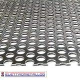 lamiera forata in ferro zincato varie dimensioni (500x1000x1 mm (foroΦ5mm))