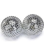 chi-enterprise Üniseks – Yetişkin Masaj Topu, Gümüş, 16 x 15 x 5