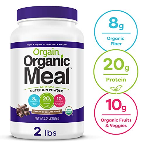 Orgain Organic Plant Based Meal Replacement Powder, Creamy Chocolate...