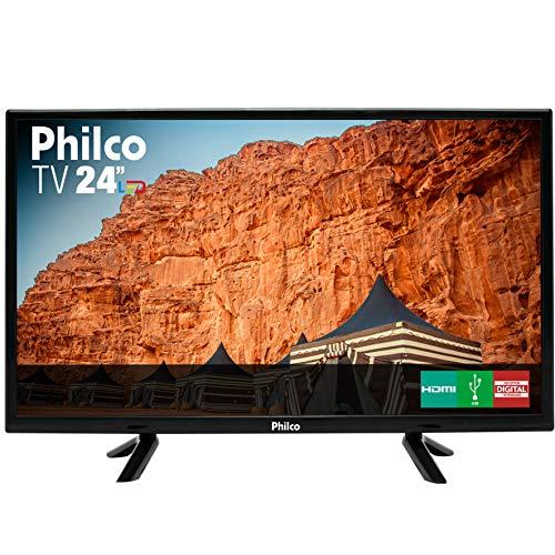 TV LED 24' HD PHILCO PTV24C10D, Resolução HD, Recepção Digital, Preta Bivolt