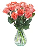 Delivery by Wednesday, May 12th Dozen Orange Roses by Arabella Bouquets