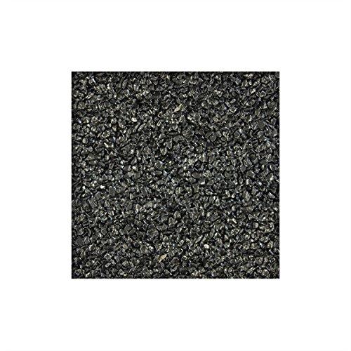 25 kg Steinteppich / Marmorkies inkl. 1K Bindemittel 2-4 mm ausreichend für ca. 2,3 m² direkt vom KiesKönig® Ebano Schwarz