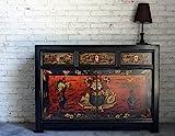 OPIUM OUTLET Aparador Comoda de Noche chifonier Armario gabinete guardarropa Chino Oriental Antiguo Vintage Asiatico Shabby-Chic Colonial Madera