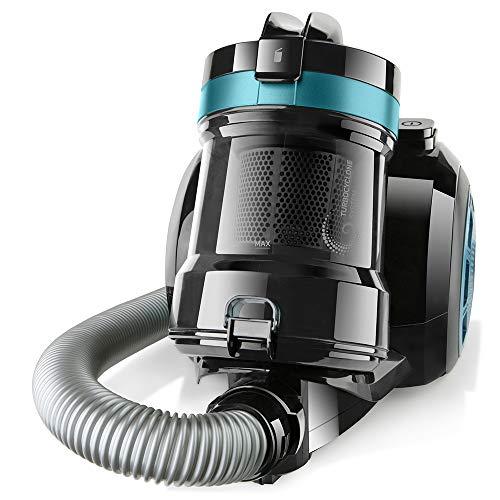 Taurus Exeo Compact Aspirador Trineo Sin Bolsa, Plástico, Negro con Azul