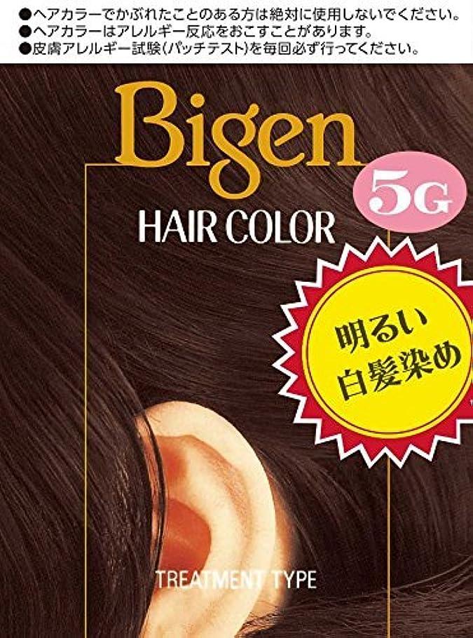 不適引き渡す屋内ホーユー ビゲン ヘアカラー 5G (深い栗色) 40mL+40mL ×6個