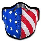 WINDMASK Neopren Biker Motorrad Maske Sturmmaske Skimaske - USA Amerika, Größe:L - Large