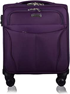 YCYHMYF Boarding Oxford Bracket Suitcase Business Suitcase Caster (Purple 18 Inch)