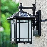 GDEVNSL Luces solares Linternas de Pared Vintage para Exteriores...