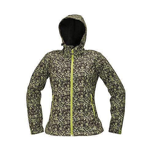 CERVA 0301 0388 87 L YOWIE Bedrukte Softshell-jas, groen/marineblauw, groot, 20 stuks