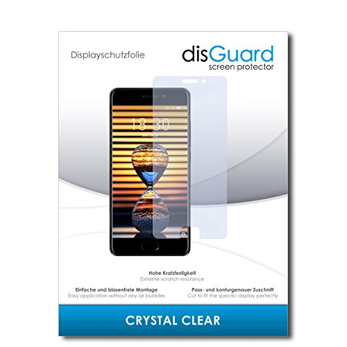 disGuard Schutzfolie für Meizu Pro 7 [2 Stück] Kristall-Klar, Bildschirmschutzfolie, Glasfolie, Panzerglas-Folie, Bildschirmschutz, extrem Kratzfest, Schutz vor Kratzer, transparent