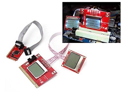 KALEA-INFORMATIQUE Comprobador PCI MiniPCI MiniPCIe LPC para Placa Madrealla de 4 cifras POST DIAG-uso profesional …