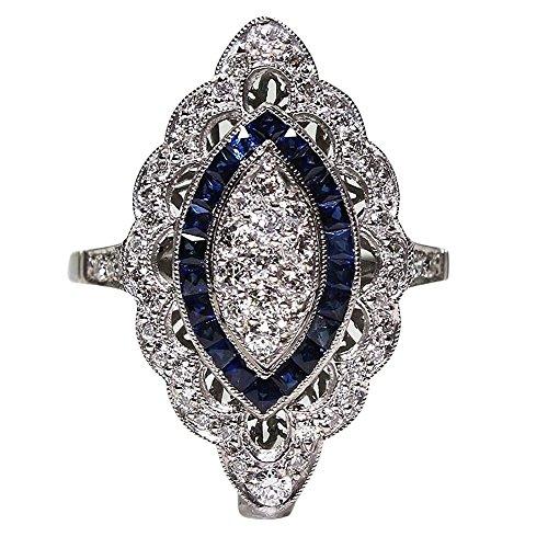 Napoo-Rings Unisex Stainless Steel Punk Skull Elephant Animal Hip Hop Luminous Decoration Ring Jewelry