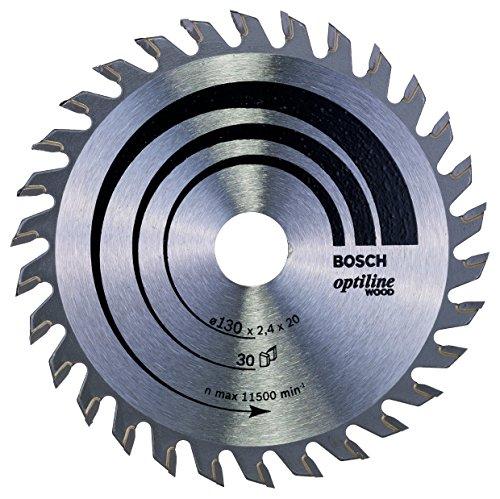Bosch 2 608 640 583 - Hoja de sierra circular Optiline Wood - 130 x 20/16 x 2,4 mm, 30 (pack de 1)