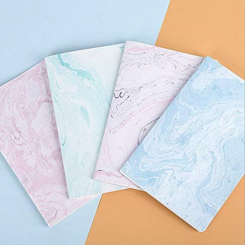 Czemo Pack de 4 Cuaderno A5 Libretas Bonitos Bloc de Notas Cuaderno de Notas Tapa Blanda Cubierta de Kraft Diario de Viaje Pequeña Diarios (Mármol)