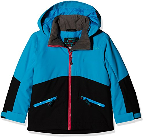 Ziener Kinder AMIGE Jacket ski Skijacke, Black, 140