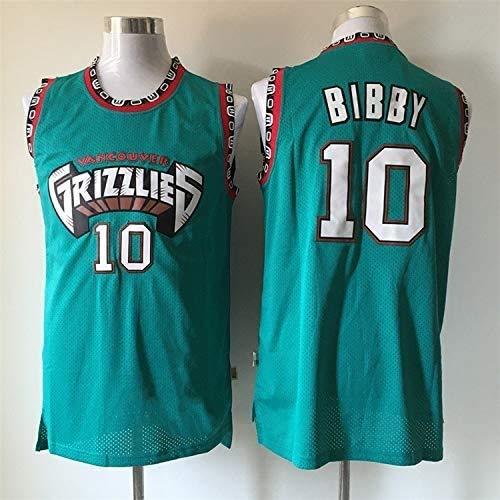 XIETARPAULIN Jerseys de Baloncesto para Hombres, Memphis Grizzlies # 10 Mike Bibby, Retro Basketball Jersey Sport Chalt Top sin Mangas Camiseta (Size : S)