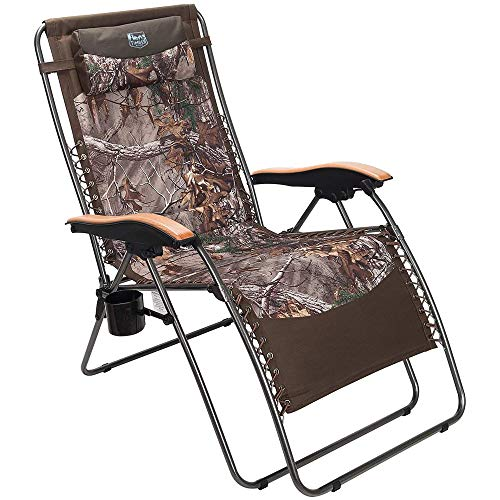 Timber Ridge Zero Gravity Chair Oversized Recliner Padded Folding Patio Lounge Chair 350lbs Capacity Adjustable Lawn Chair with Cup Holder, Headrest, for Outdoor, Camping, Patio, Lawn