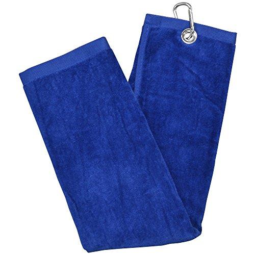 LONGRIDGE Blank Luxury 3 Falten Golf Tuch, Blau, One Size