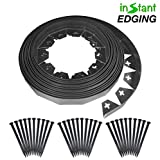 One Stop Outdoor Instant Edging - 30ft No Dig Edging Kit, for Landscaping, and Flower Gardens - Includes 30 Edging Stakes (30ft' Edging Kit)