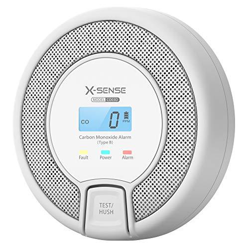 X-Sense Detector de CO con Pantalla Digital, Detector de monóxido de Carbono, con una Vida...