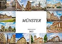 Muenster Impressionen (Wandkalender 2022 DIN A4 quer): Einmalig wunderschoene Bilder der Stadt Muenster (Monatskalender, 14 Seiten )