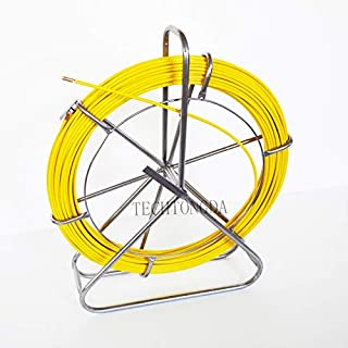 Fish Tape Fiberglass Reel Wire Cable Running Rod Duct Rodder Fishtape Puller 8mm